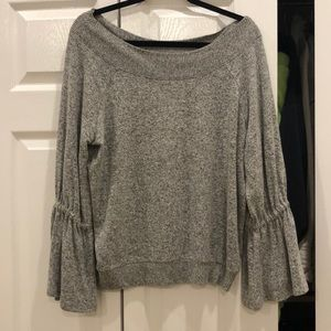 Express off the shoulder bell sleeve sweater